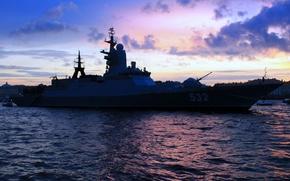 "Picture ship, Navy, Corvette, guard, The Baltic Fleet, ""Brisk"""