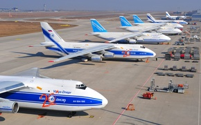 Picture Airport, the plane, aircraft, Airlines, Soviet, An-124, Ruslan, heavy, transport, Ruslan, Antonov, heavy, Airport, transport, …