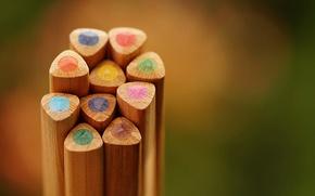 Picture color, colored pencil, pencil