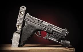 Picture gun, knife, Glock 17, Mark 1