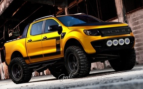 Picture car, SUV, ford, pickup, boss 302, virtual tuning