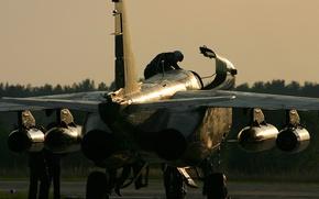 Picture sunset, the evening, engines, Ukraine, Pilot, Su 25