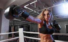 Picture punch, boxing, workout