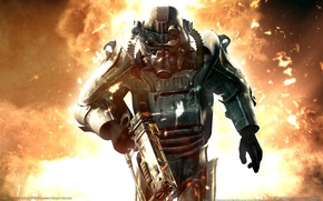 Picture the explosion, weapons, hit, Fallout 3