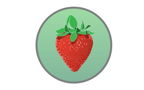 Picture round, strawberry, berry