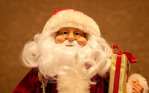 Picture holiday, new year, doll, glasses, beard, Santa Claus
