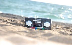Picture sand, sea, music, radio, radio