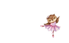 Picture mood, owl, dance, art, pack, ballet, children's, Pointe shoes, sovushka, Inga Paltser, Inga, Pelzer