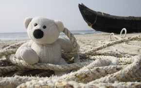 Picture sea, background, Wallpaper, shore, mood, boat, fisherman, White, India, bear, rope