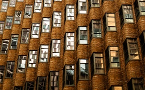 Picture windows, bricks, Australia, Sydney, building