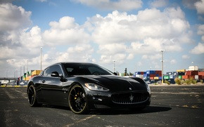 Picture lights, Maserati, wheels, GranTurismo, with, and, color, CVT, Vossen, lowered, smoked, matched