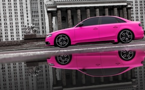 Picture audi, pink, slow