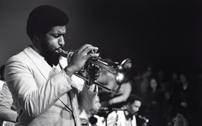 Picture music, people, jazz, pipe, musician, orchestra, jazz musician, trumpeter, Barrie Lee Hall