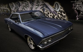 Picture retro, Chevrolet, classic, the front, 1966, Chevelle