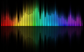 Picture reflection, music, color, equalizer