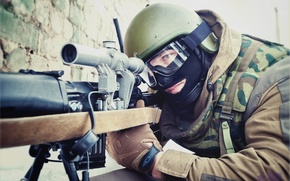 Picture MIA, camouflage, SBM, helmet, Russia, soldiers, mask, SVD, sight, fighter, sniper