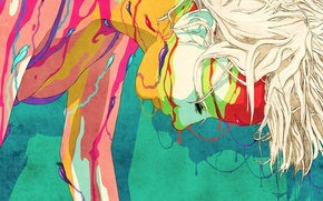 Picture abstract, animation, woman, art, Colours, slugs