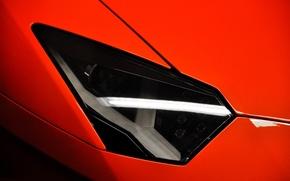 Picture red, headlight, red, lamborghini, Blik, aventador, lp700-4, Lamborghini, aventador