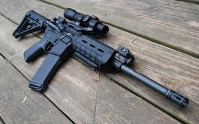 Picture Board, machine, optics, hd wallpaper, assault rifle, AR-15, assault rifle