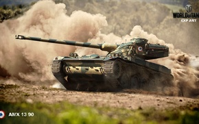 Picture speed, drum, world of tanks, amx 13 90, world of Tanks, France. tanks
