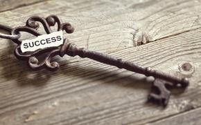 Picture metal, key, success