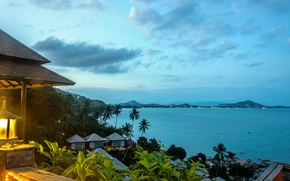 Picture island, lamp, beach, Bay, Palma, the ocean, lantern, sky, Thailand, palm, gulf, island, house, Thailand, ...