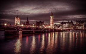 Picture night, lights, England, London
