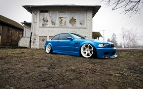 Picture BMW, wheels, blue, tuning, E46