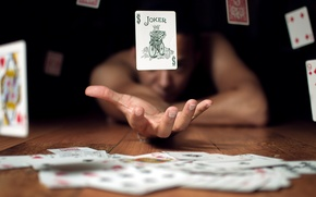 Picture card, good luck, hand, the situation