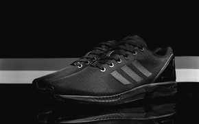 Picture Adidas, sneakers, Adidas, ZX FLUX, Blackout