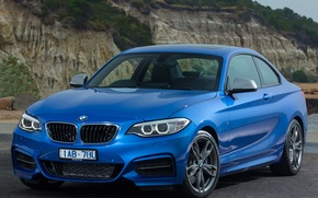 Picture bmw, blue, coupe, m235i