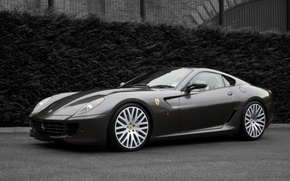 Wallpaper black and white, auto, Ferrari, Project Kahn