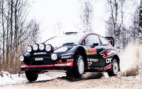 Picture snow, Ford, Winter, Auto, Black, Sport, Race, Day, Lights, WRC, Rally, Fiesta