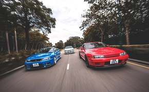 Picture nissan, turbo, red, white, skyline, japan, blue, jdm, tuning, gtr, speed, r34, r33, r32, nismo, …