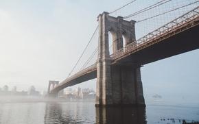 Picture river, New York, USA, USA, Brooklyn bridge, New York, Brooklyn Bridge