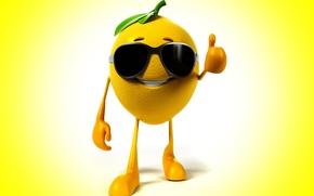 Wallpaper smile, background, lemon, glasses, class, lemon, smile, background, glasses, class