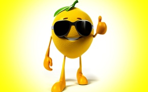 Picture smile, background, lemon, glasses, class, lemon, smile, background, glasses, class