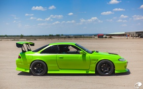 Picture green, nissan, green, Nissan, silvia, s15, Sylvia