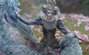 Picture girl, decoration, dress, art, Agnieszka Lorek, Maja