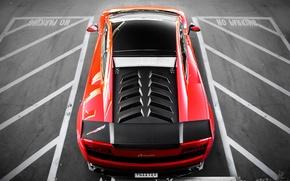 Picture red, Lamborghini, red, Gallardo, parking, Lamborghini, Super Trofeo Stradale, LP570-4, Gallardo