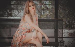 Wallpaper dress, sponge, legs, makeup-2