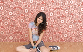 Picture girl, smile, singer, Selena Gomez