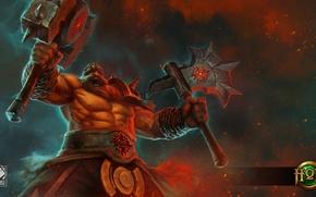 Wallpaper warrior, axe, Heroes of Newerth, Berserker, Orbode, Berzerker