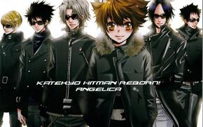 Picture guys, mafia, katekyo Hitman reborn, reborn, sunglasses, tsunayoshi sawada, mukuro rokudo, hayato gakudera, hibari kyoya, …