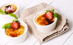 Wallpaper cream, cake, dessert, dessert, sweet, sweet, cake, mousse, strawberry