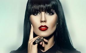 Picture look, face, portrait, Model, fashion, Kristin