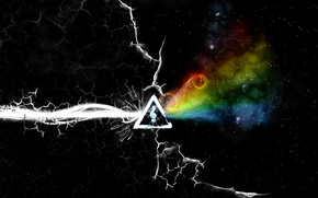 Picture Pink Floyd, Progressive rock, the dark side of the moon, the album cover, a prism
