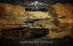 Picture Germany, tank, tanks, WoT, World of Tanks, Lion, Lowe