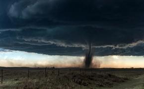 Picture field, nature, tornado