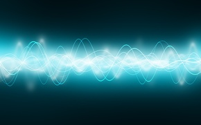 Wallpaper wave, neon, pulse